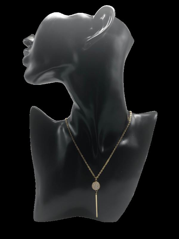 Kette Universe gold quarz halskette souldja