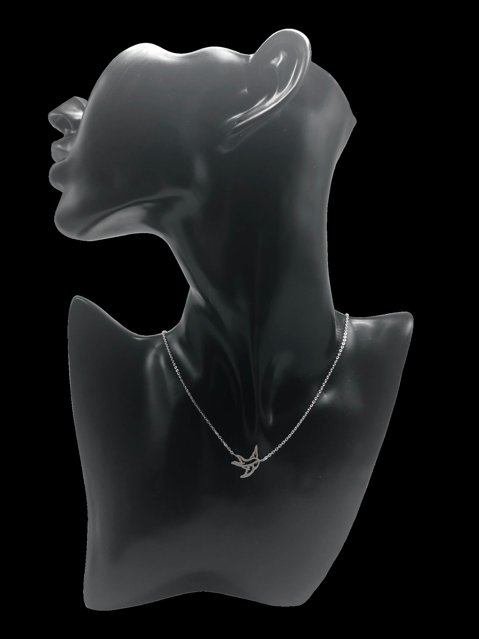Kette halskette silber motiv vogel