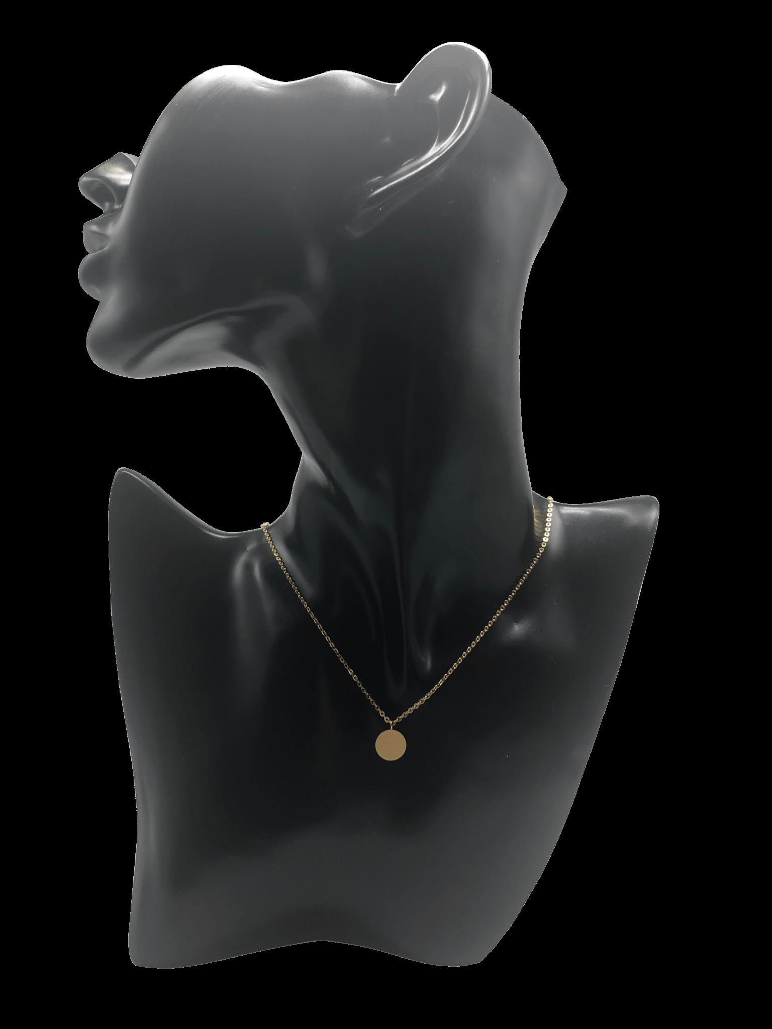 kette halskette souldja edelstahl gold anhänger rund