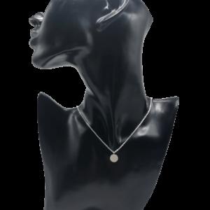 kette halskette souldja edelstahl silber anhänger rund