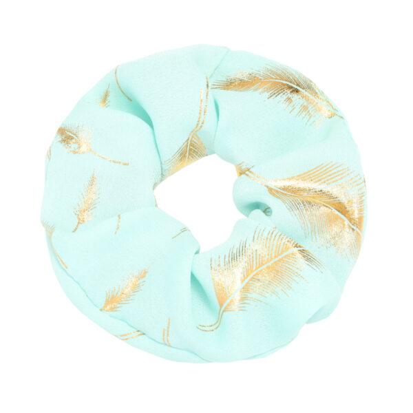 scrunchie gold pastell feder