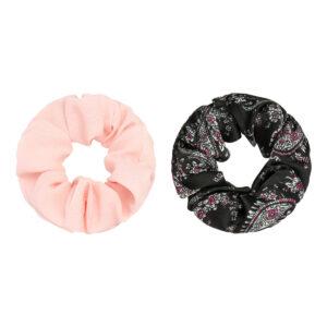 scrunchie haargummi rosa schwarz