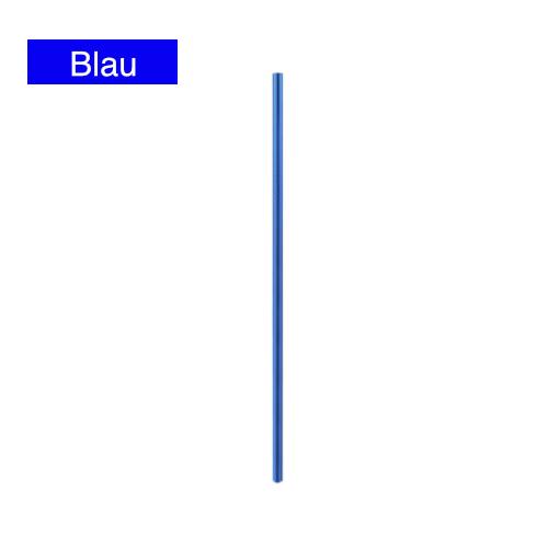 edelstahl strohhalm trinkhalm blau